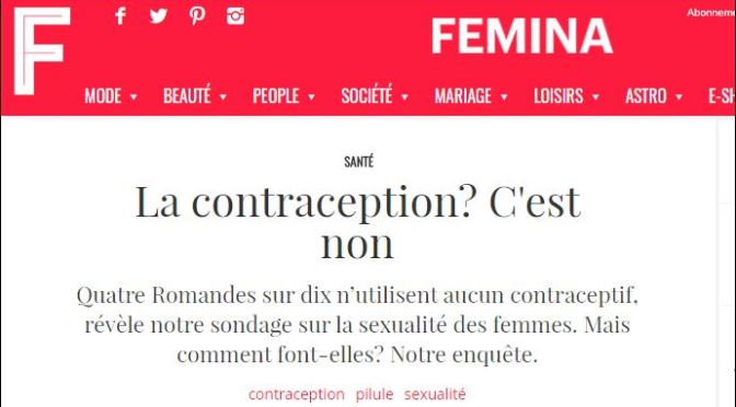 Le sondage de Femina.ch confirme la demande d'alternatives à la pilule