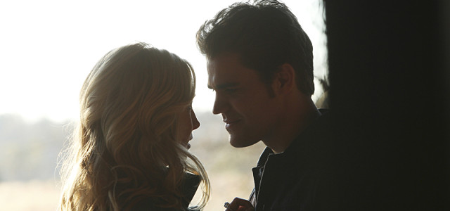 "The Vampire Diaries -- ""Stay"" -- Image Number: VD114a_0114.jpg -- Pictured (L-R): Candice Accola as Caroline and Paul Wesley as Stefan -- Photo: Annette Brown/The CW -- © 2015 The CW Network, LLC. All rights reserved."