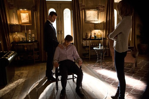 "The Originals -- ""The Other Girl in New Orleans"" -- Image Number: OG308a_0013.jpg -- Pictured (L-R): Daniel Gillies as Elijah, Oliver Ackland as Tristan and Riley Voelkel as Freya -- Photo: Eli Joshua Ade/The CW -- © 2015 The CW Network, LLC. All rights reserved."