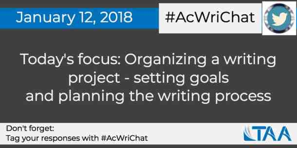 Setting goals and planning a writing project