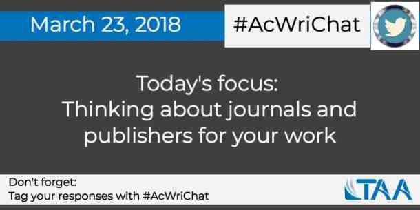 Thinking about journals and publishers for your work