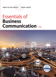 Essentials of Business Communication, 11th ed.