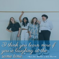 """""""I think you learn more if you're laughing at the same time."""" ~Mary Ann Shaffer & Annie Barrows"""
