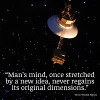 """""""Man's mind, once stretched by a new idea, never regains its original dimensions."""" ~Oliver Wendell Holmes"""