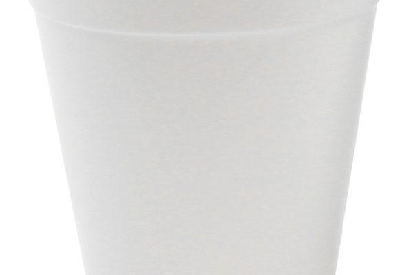 white reusable cup