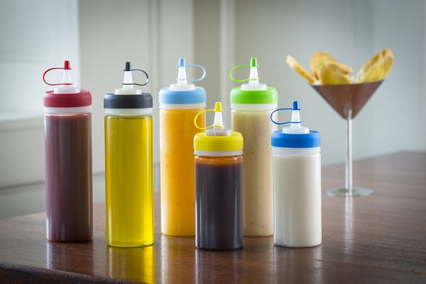 family of squeeze bottles