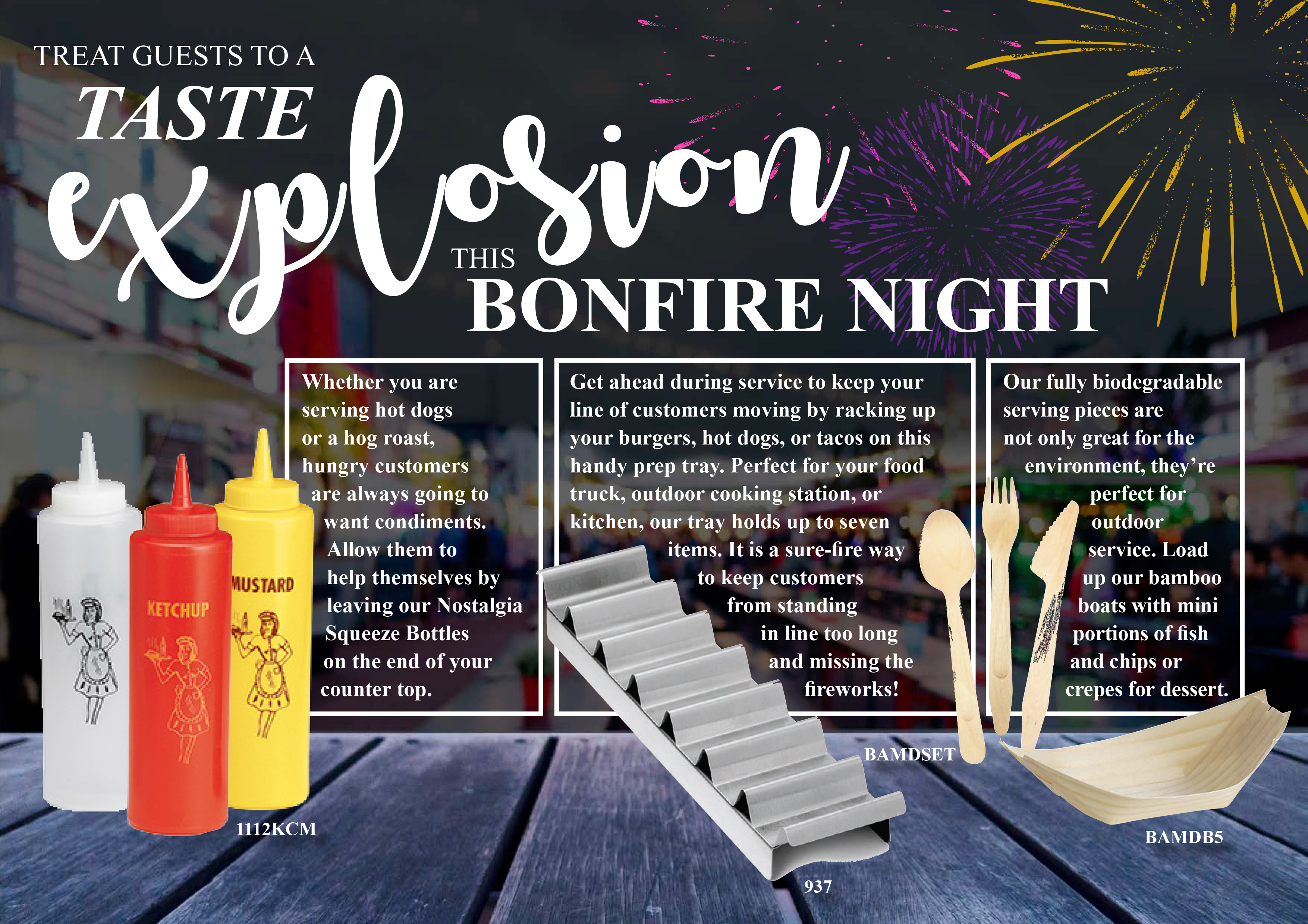 treat guests to a tast explosion this bonfire night