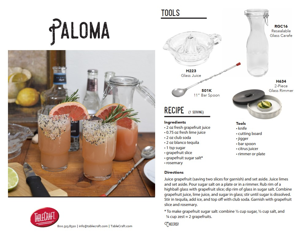 paloma cocktail recipe cover
