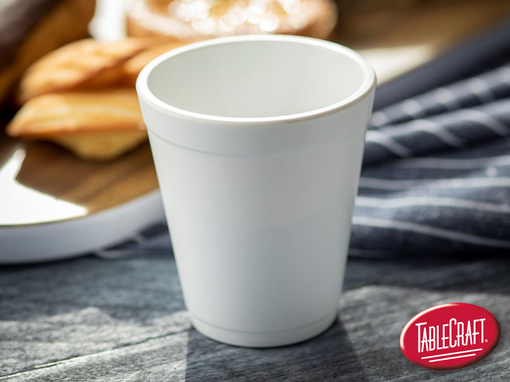 faux white cup made of melamine