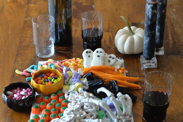 Halloween Sweets Candy on Platter