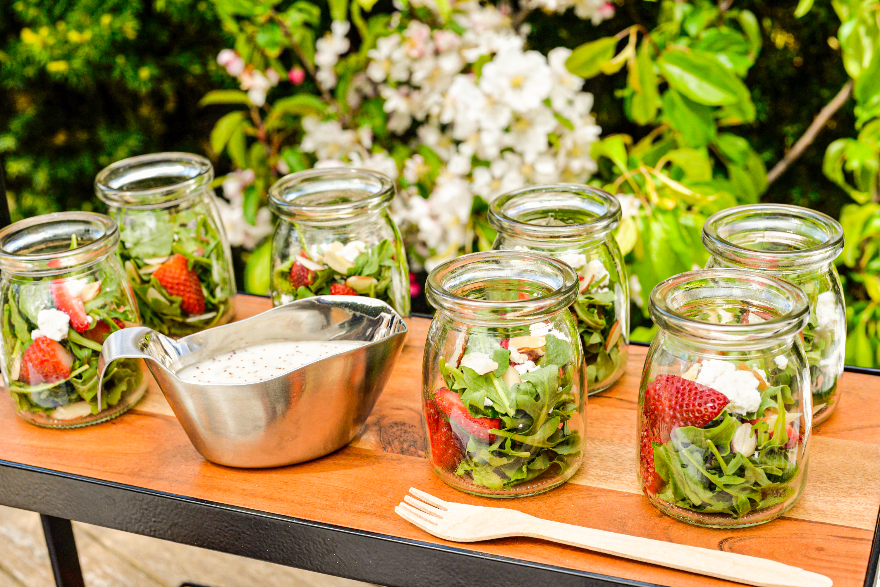 single serve salad from tablecraft