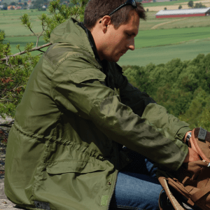 Nomad jacket green in the nature