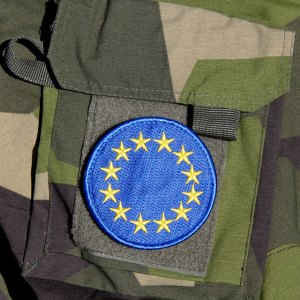 EU Blue embroidered mounted on NCWR Jacket