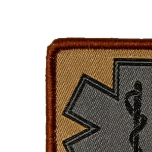 MEDIC Desert hook Patch close up