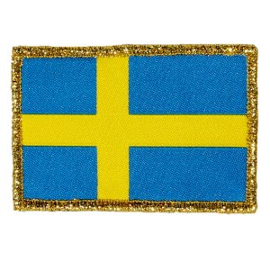 Sweden Flag hook Gold close up