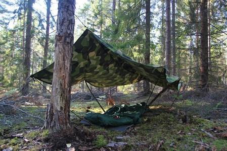 Lone Wolf shelter set up