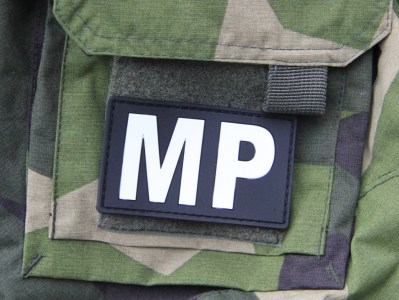 Military Police hook PVC Patch on sleeve