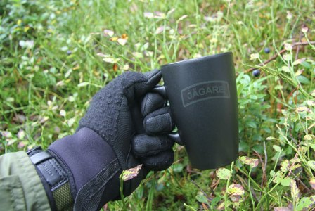 Our first coffee cup with Jägare print
