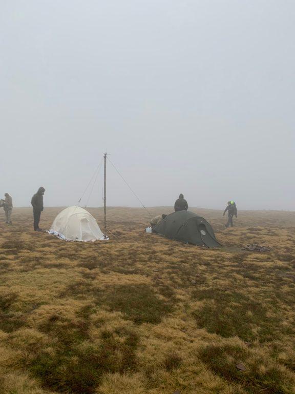 Tent base on top of Pan y Fan