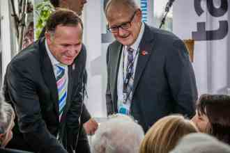 John Key Meeting Lady Tait