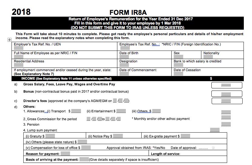 IR8A form
