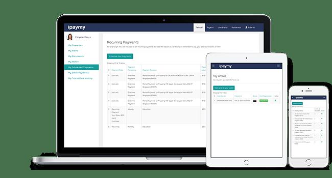 iPaymy platform on desktop, mobile