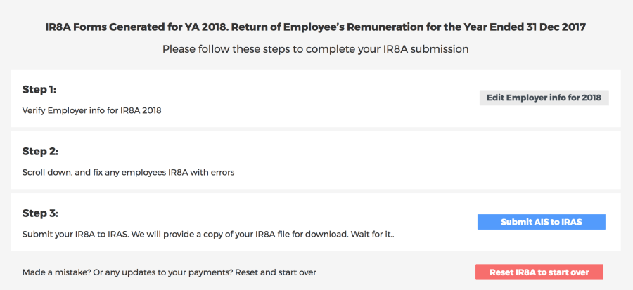 IR8A submission form on Talenox