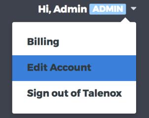 edit account feature in Talenox