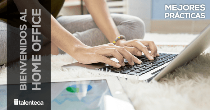 Trabajo desde casa - Persona con laptop haciendo Home office