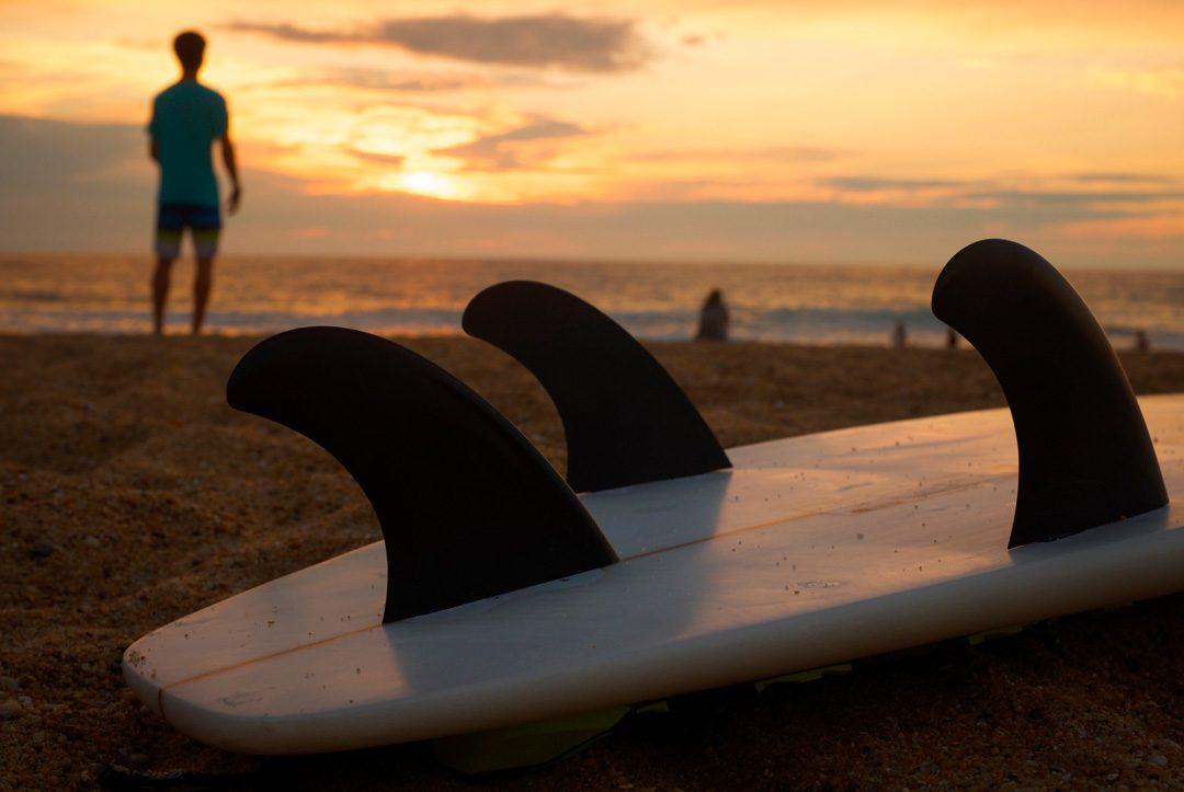 tabla de surf en primer plano
