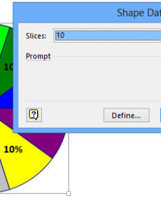 Add over slices to  visio pie chart and bind thickness external data also rh blog tallan