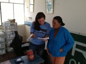 "Patients receive their medications in Tandana's ""pharmacy"""