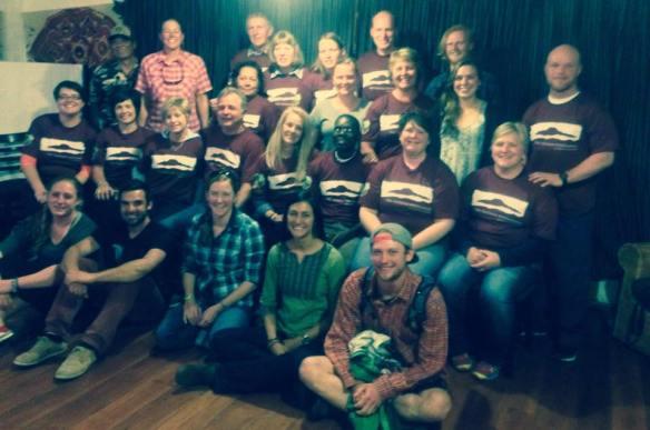 The Bear Lake Volunteers and the Tandana staff