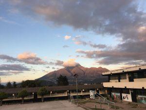 La vista desde la escuela en Quichinche