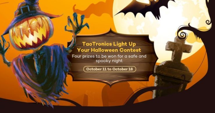 TaoTronics Halloween Giveaway Cover Bat Prize Pack Deal