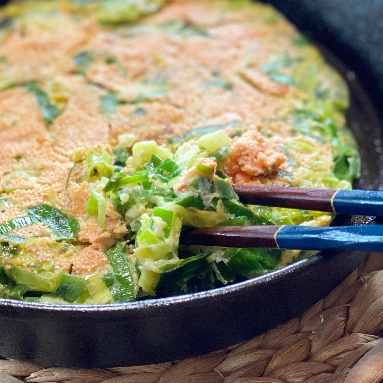 今日の一皿『九条ネギ明太チーズ焼き』
