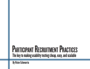 Participant Recruitment Usability Testing Whitepaper