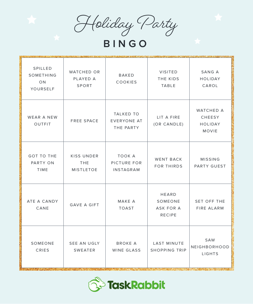 picture about Holiday Bingo Printable known as Printable Bingo Playing cards for Your Upcoming Holiday vacation Social gathering The Hutch