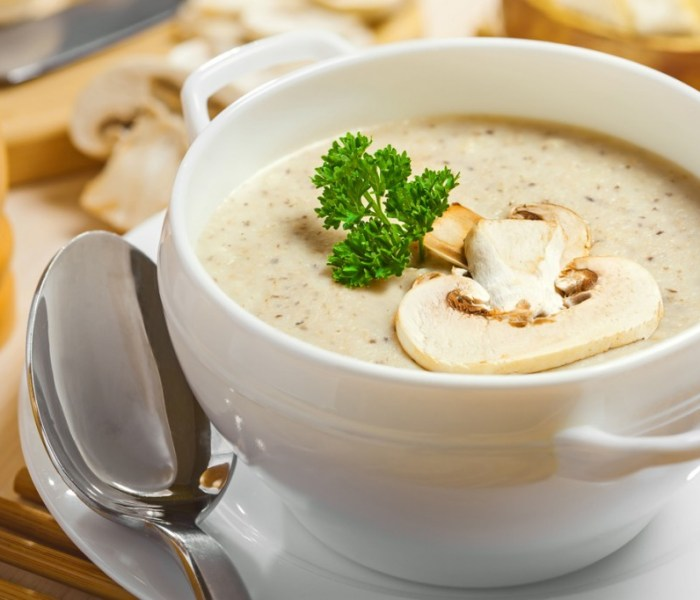 Healthy Chicken and Mushroom Soup.