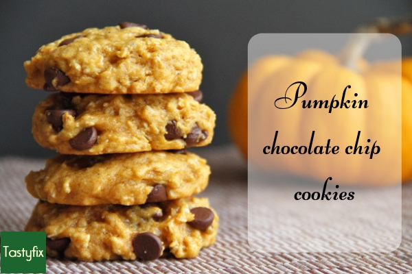 Pumpkin chocolate chip cookies. A low calorie cookie