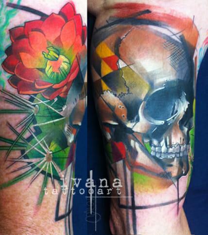 Skull and Cactus Tattoo