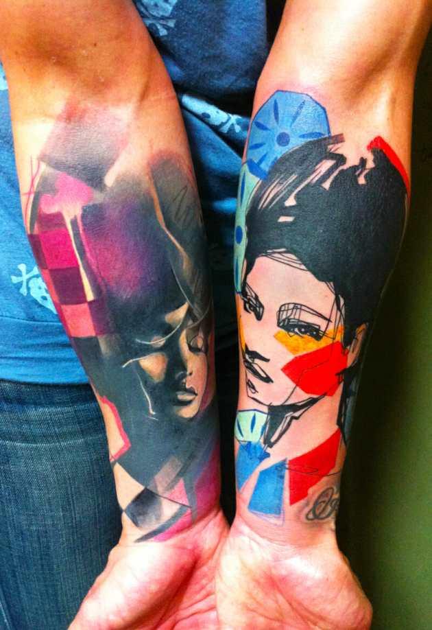 Tattoo Portraits by Ivana Belakova
