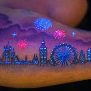 Glow in the Dark Forearm Tattoo