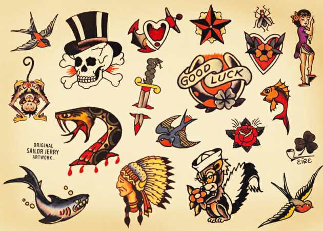 Sailor Jerry Original Tattoo Designs