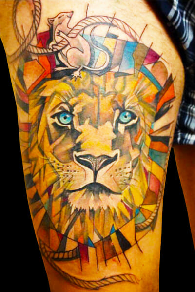 Lion Tattoo by Marie Kraus
