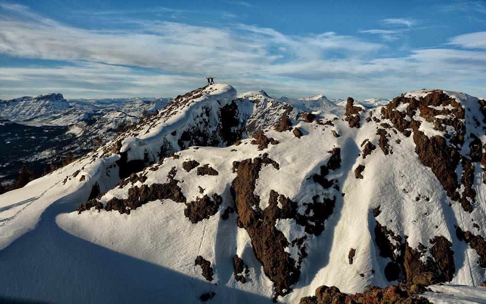 Cumbre del Mount Republic, atrás el Parque Nacional Yellowstone. Foto: Diego Sáez