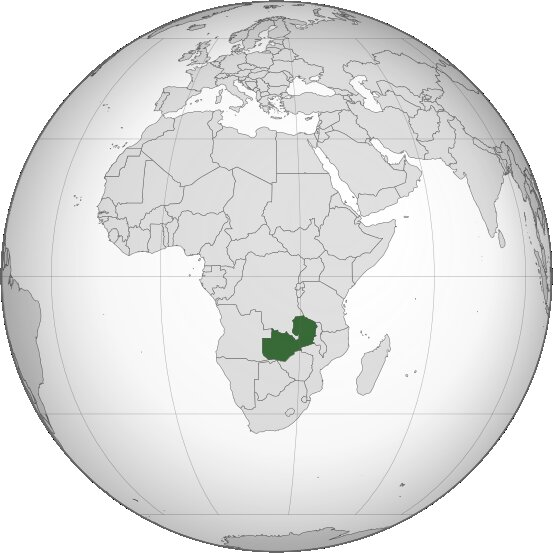 Zambia-orthographic-projection