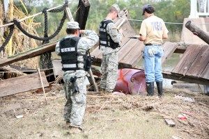TCEQ personnel work alongside members of the 6th Civil Support Team