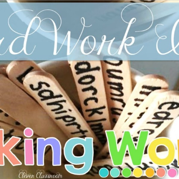 Word Work With Popsicle Sticks: A Super-Fun Center Idea!