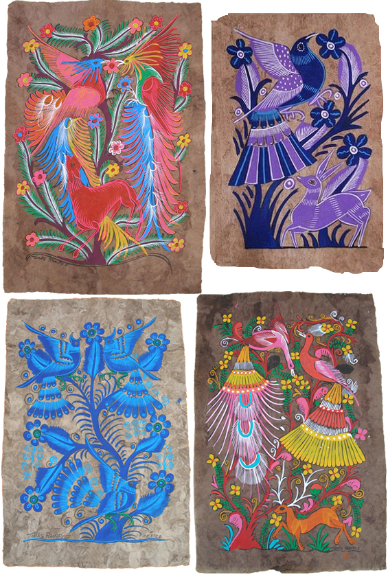 amate art otami nahua mexico painting